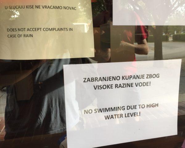Croatia 16 Skradinski swimming and rain sign (IMG_0077)